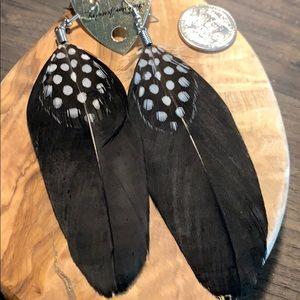 🌻NEW Black feather earrings
